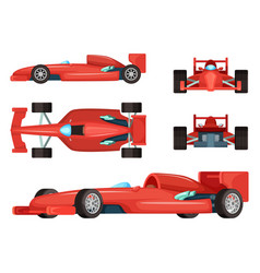 different sides of sport cars vector image vector image