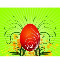 Easter illustration with painted egg vector image vector image
