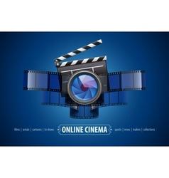 Online movie theater cinema vector image vector image