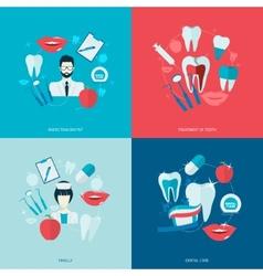 Teeth icons flat vector image vector image
