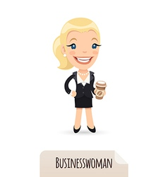 Businesswoman with cofee vector