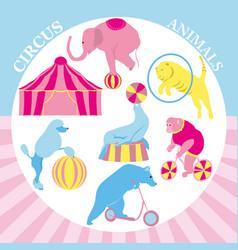 circus clip art set vintage vector image