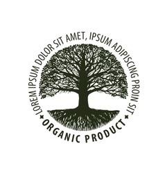 Logo tree organic Natural product Nature or vector image vector image