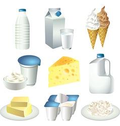 milky set vector image