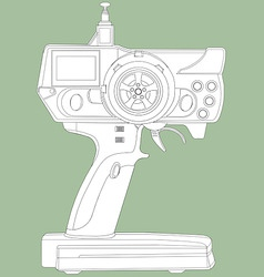 radio remote control unit vector image vector image