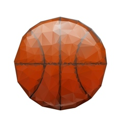 Abstract geometric polygonal basketball vector image vector image