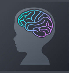 children brain icon design logo vector image