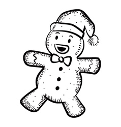 ginger bread doodle vector image vector image