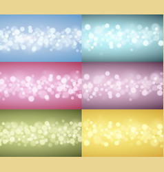 lights backgrounds collection vector image vector image