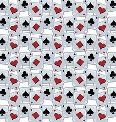 poker card theme pattern vector image