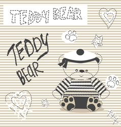 0415 16 teddy bear v vector