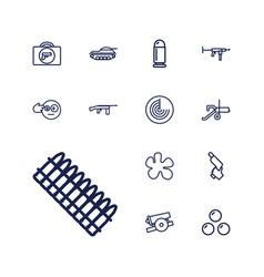 13 gun icons vector