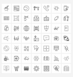 49 editable line icons and modern symbols chat vector
