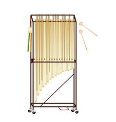 A musical tubular bells vector