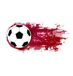 A soccer ball with watercolor vector