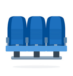 a triple-seat aircraft flat material design vector image