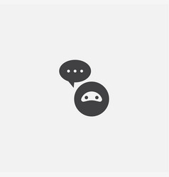 ai assistant base icon simple sign vector image