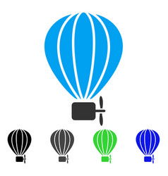 Air balloon flat icon vector