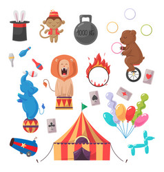amazing circus show set vector image