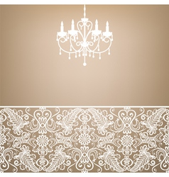 antique chandelier vector image