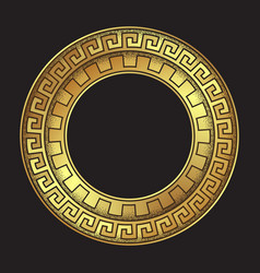 Antique greek style gold meander ornanent vector