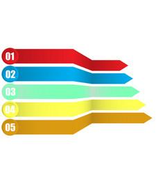 arrows element infographics vector image