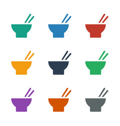 Asian food icon white background vector
