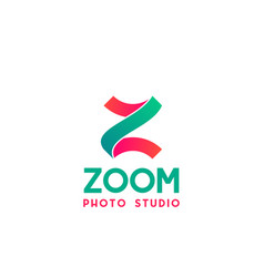 badge for photo studio vector image