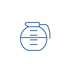 beverage drinks pot line icon concept beverage vector image