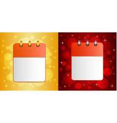 Blank sheet of calendar on festive background vector