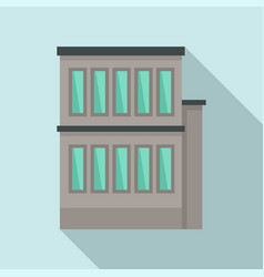 Building reconstruction icon flat style vector
