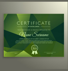 Certificate of excellence design with abstract vector