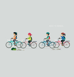 children cycling vector image