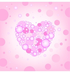 circular heart effects background vector image