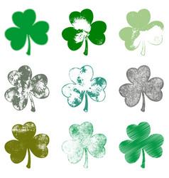 clover leaf grune set vector image