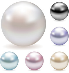 Color pearls vector