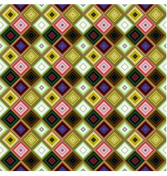 colorful abstract diagonal square tile mosaic vector image