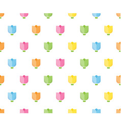 colorful tulip seamless pattern for background vector image