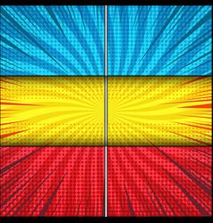 comic explosive bright composition vector image