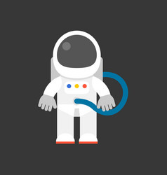 cute character of astronaut flat design icon vector image
