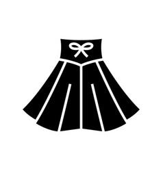 dancing skirt black icon concept vector image