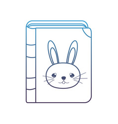 Degraded line education rabbit book object style vector