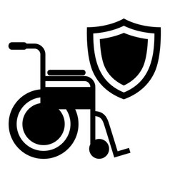 disability protection icon simple black style vector image