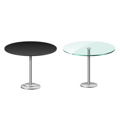Empty modern black round table isolated on white vector