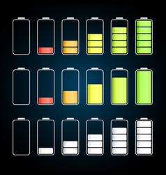 Empty to full charge battery collection vector
