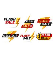 Flash sale mega sales lightning badges best deal vector