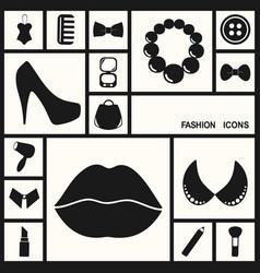 Flat concept set modern design fashion beauty vector