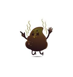 flat poop upset vector image
