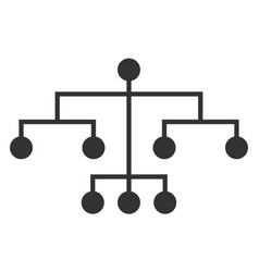 flat script tree icon vector image
