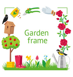 frame square garden vector image